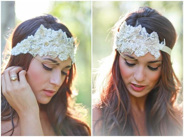 vintage style bridal headband
