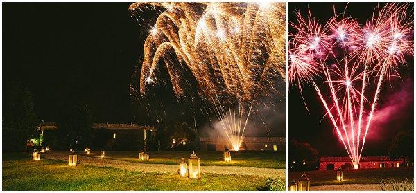 wedding fireworks france