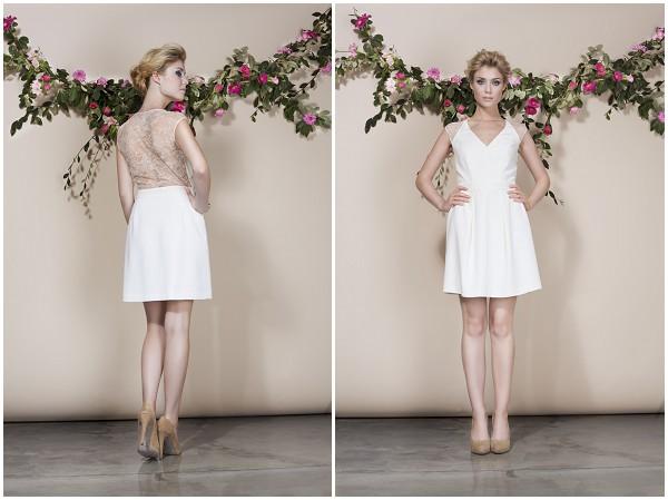 Short wedding dress in Paris