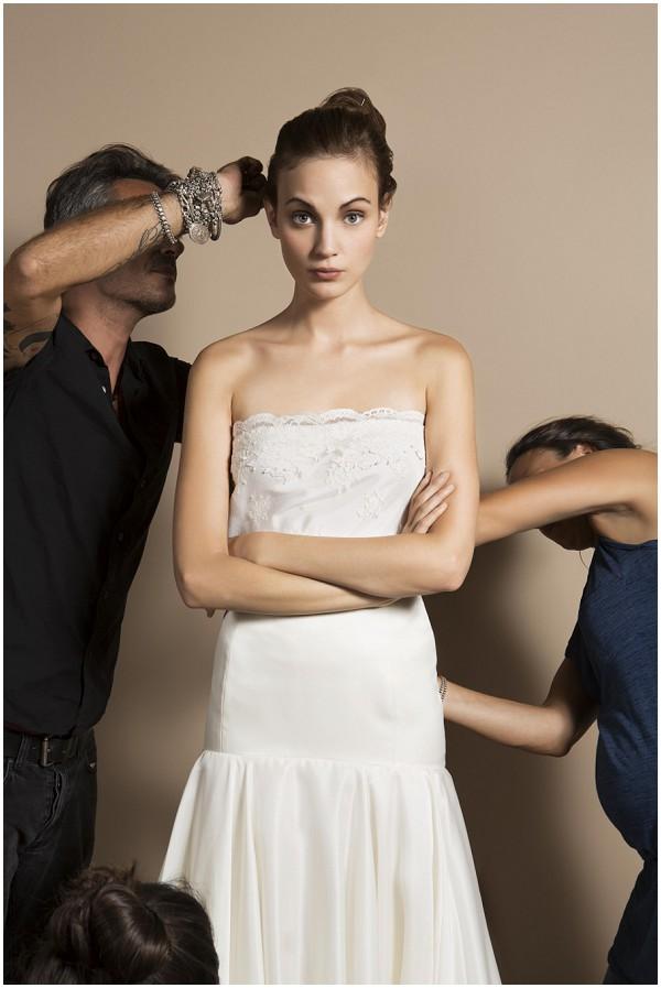 behind bridal shoot