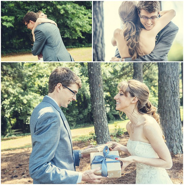 bride groom present exchange