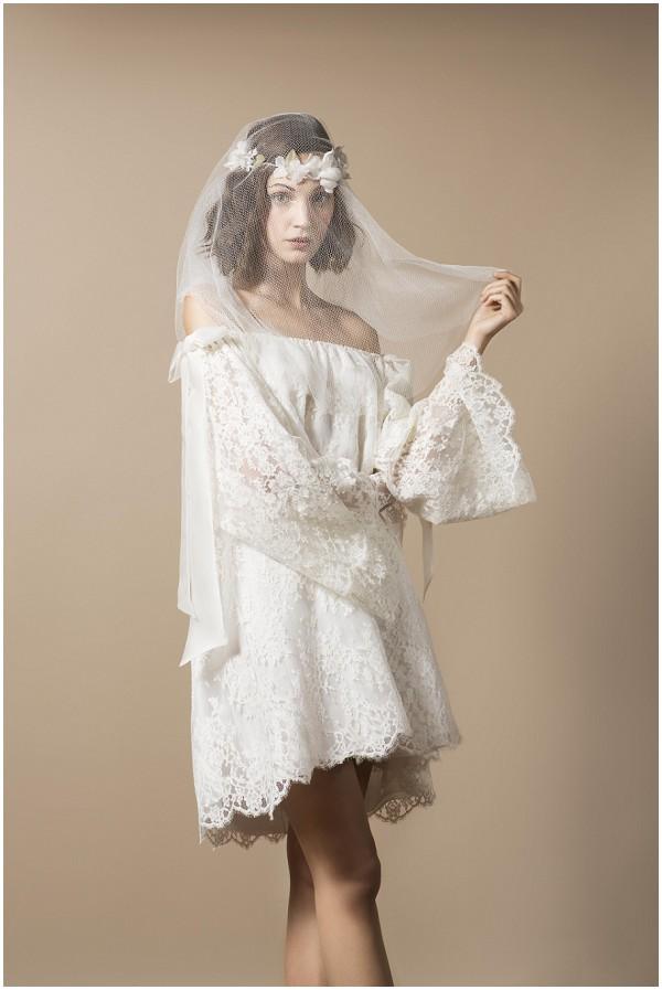 Delphine Manivet short boho wedding dress