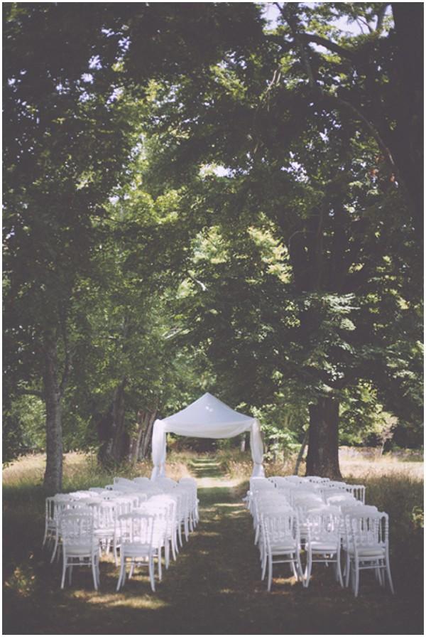 dordogne outdoor ceremony
