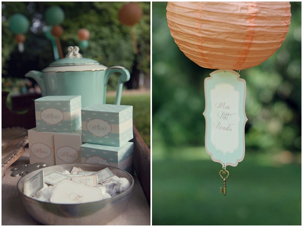 french inspired wedding favours