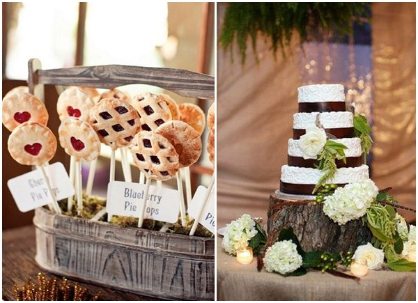 log cabin wedding cakes