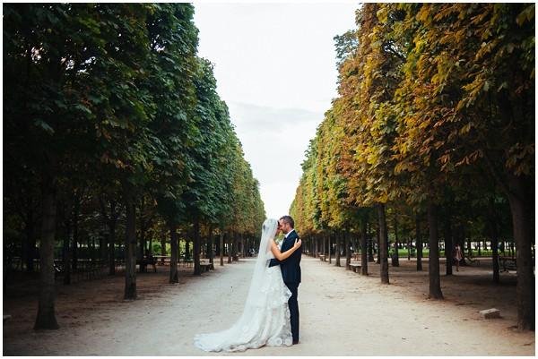 paris post wedding park shoot