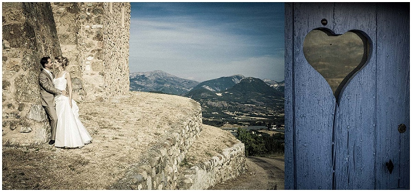 Dramatic photography for Provence wedding