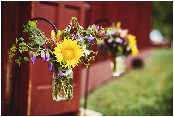 rustic barn flowers