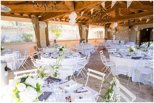 rustic french wedding reception