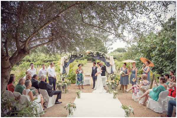 Rustic real wedding in France