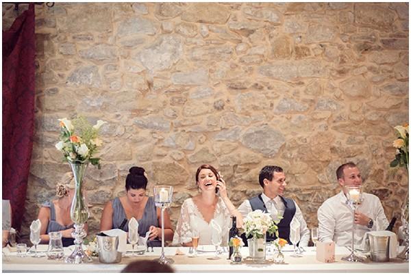 rustic wedding headtable