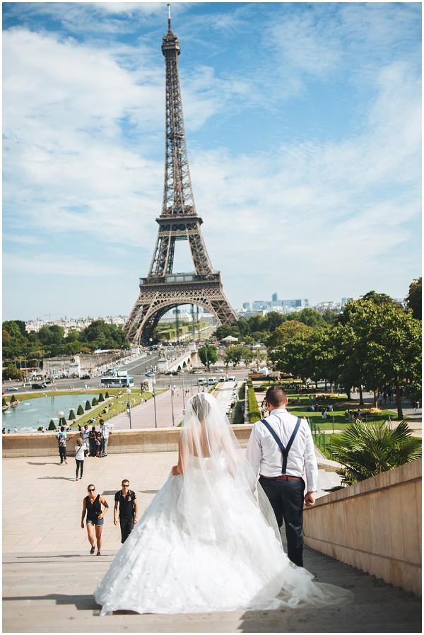 wedding photos eiffel tower