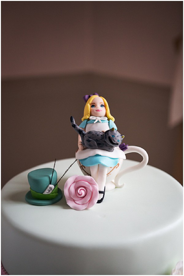 alice in wonderland wedding cake toppers magical in themed wedding 10671