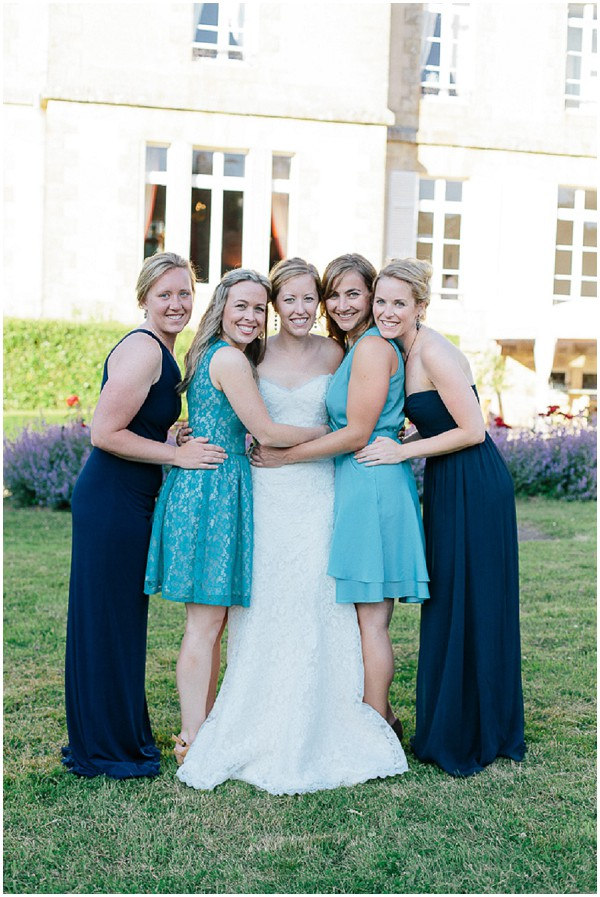 blue teal white wedding