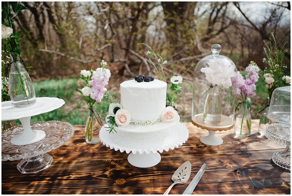 blush pink and coral wedding cakes