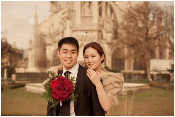 bride groom notre dame