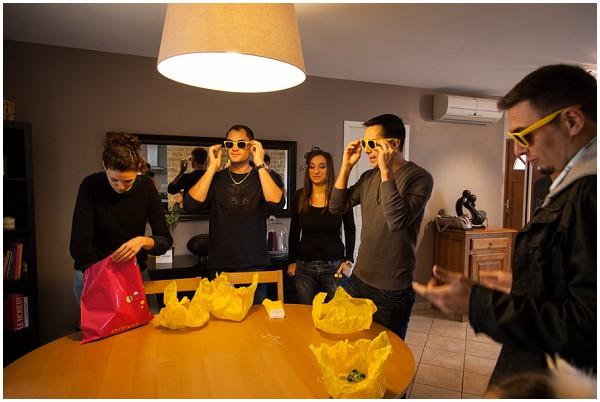 bright yellow sunglasses