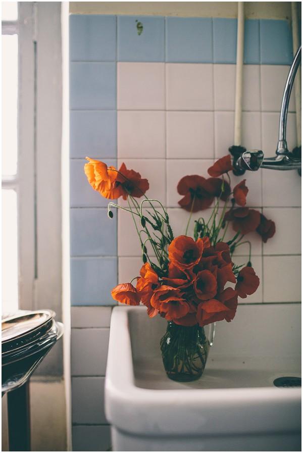 burnt orange wedding flowers