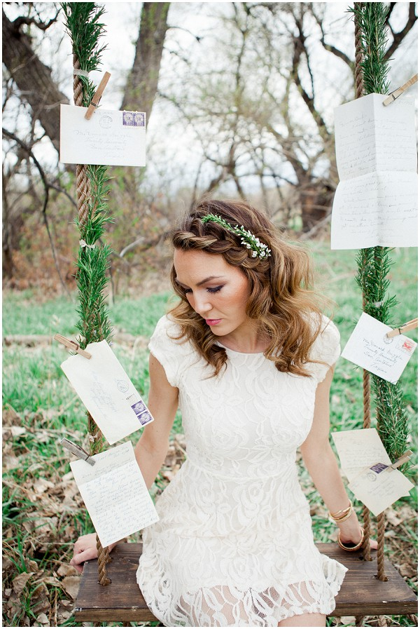 decorated wedding swing