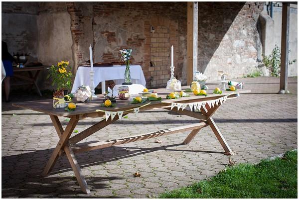 wedding south france table