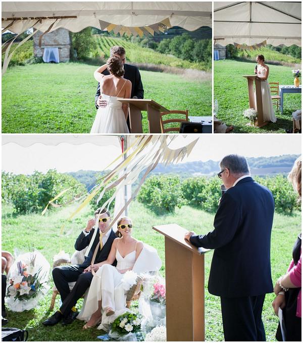 diy wedding tarn