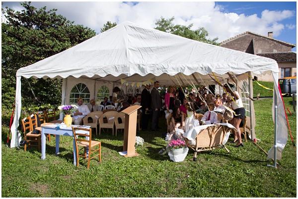 diy wedding tent