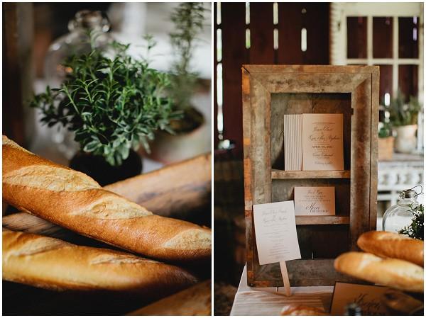french bread wedding
