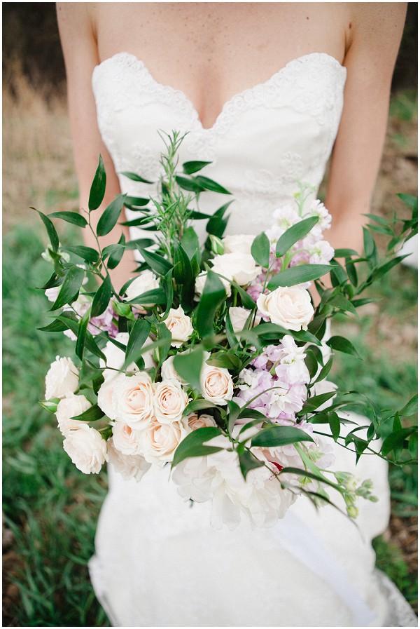 lavender and lace wedding bouquet