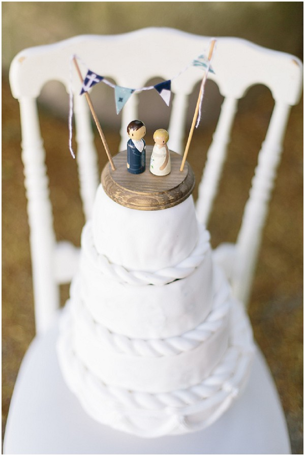 naval themed wedding cake