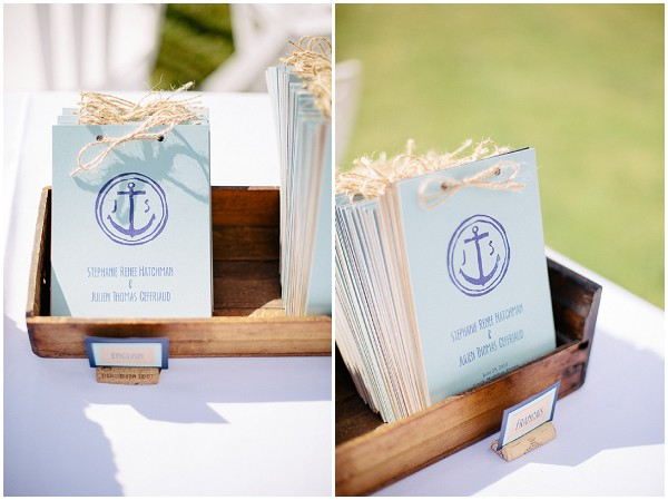 naval themed  wedding programs