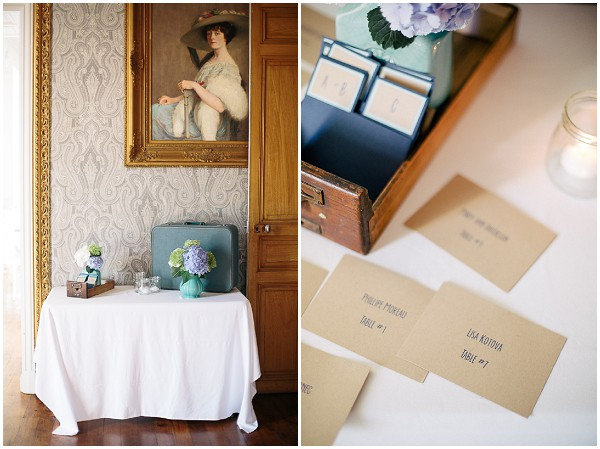 rustic vintage wedding details
