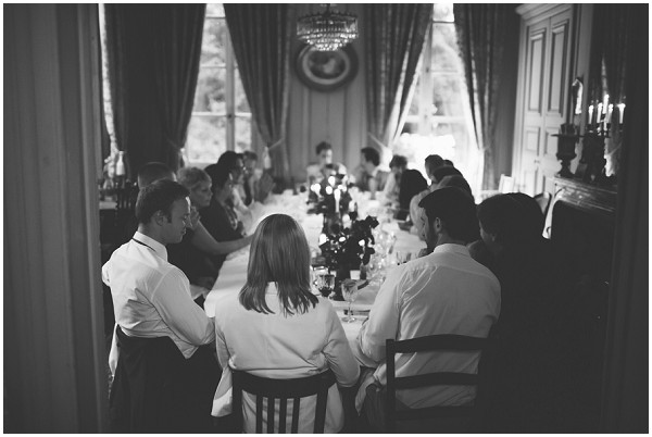 single wedding table