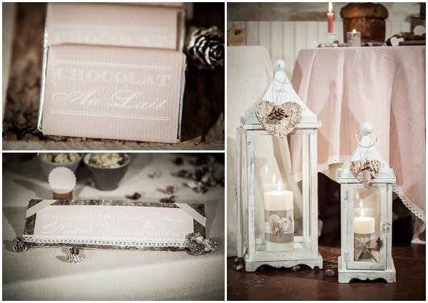 baby pink wedding decor