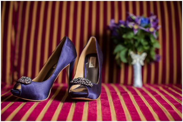 blue shoes flowers