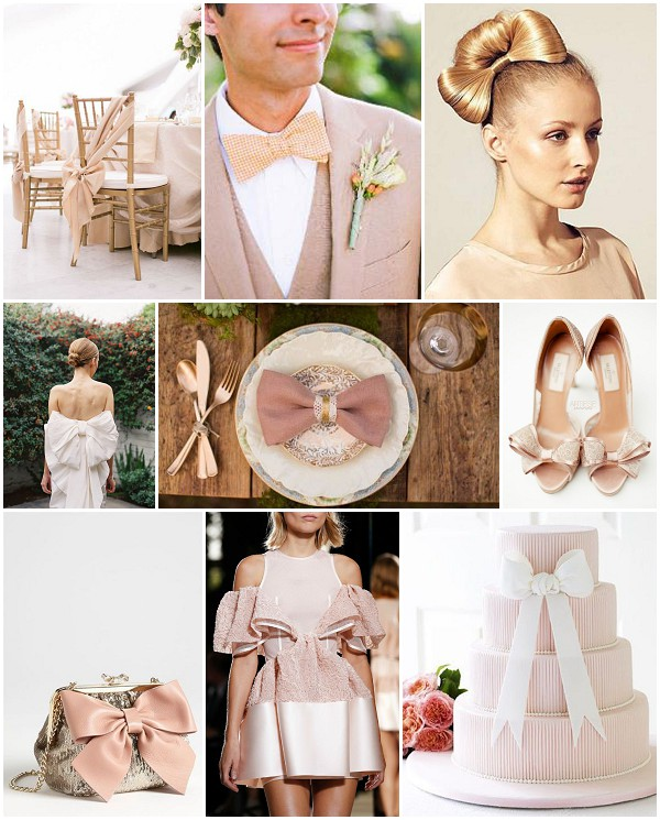 blush bow bride ideas