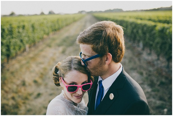 bright wedding raybans