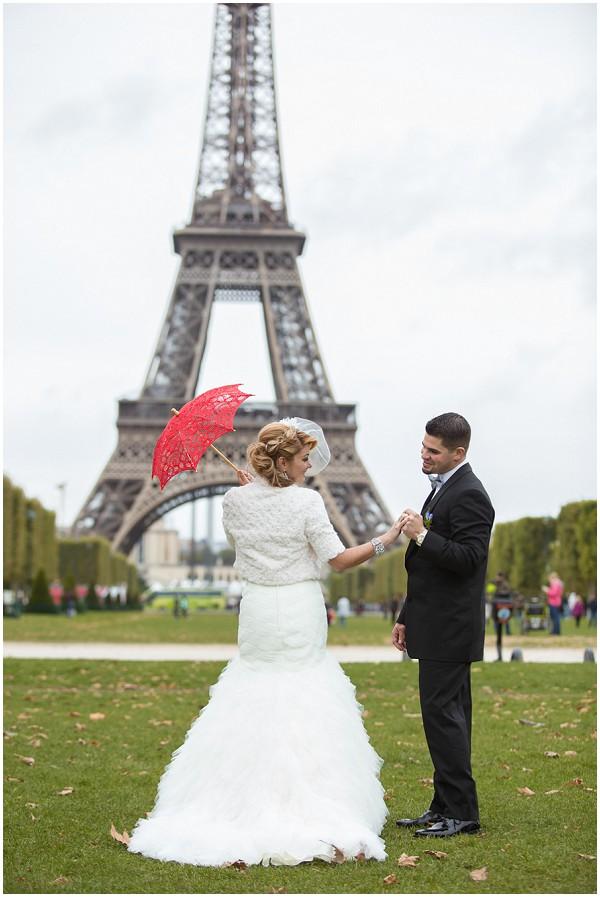 Elopement Eiffel Tower Wedding