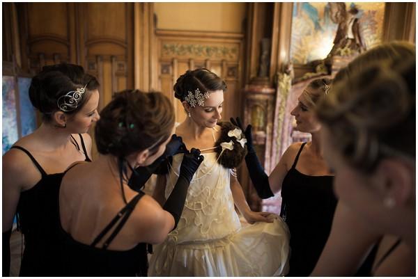 flapper style wedding