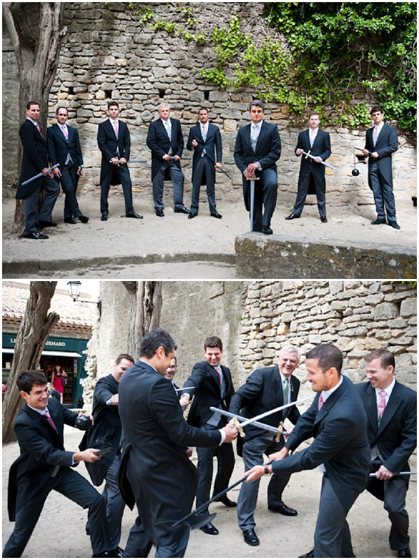 groomsmen dueling