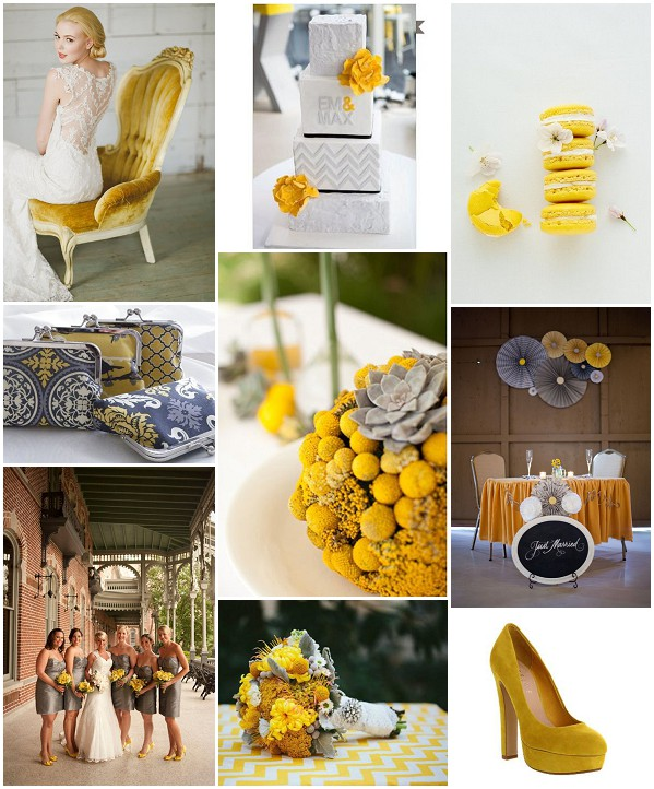 mustard grey wedding ideas