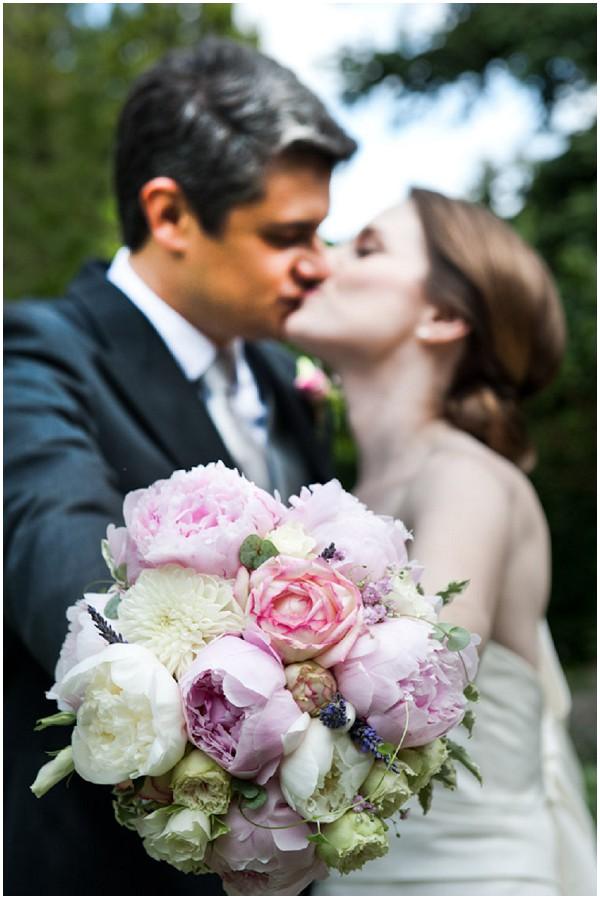 pink purple bridal bouquet