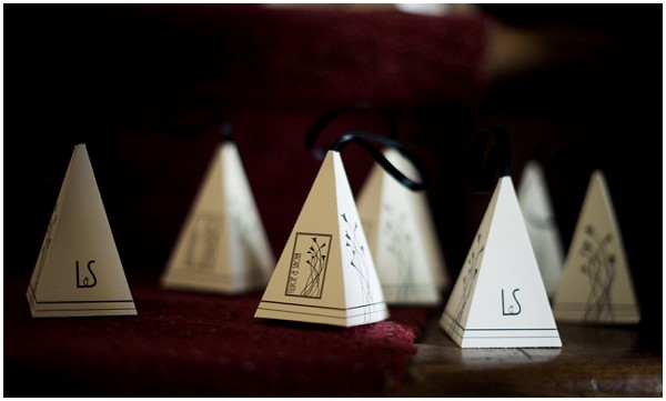 pyramid wedding favours