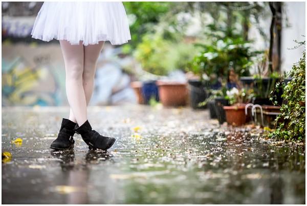 rainy pavement