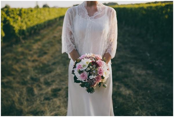 rustic wedding flowers with Delphine Manivet dress