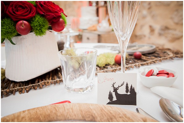 snow white wedding table