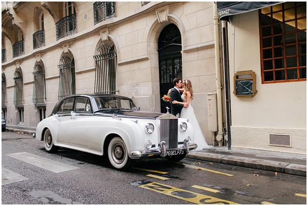 vintage wedding car paris
