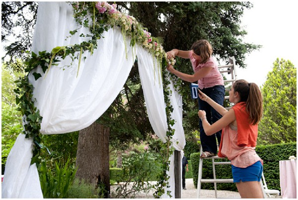 wedding arch creation