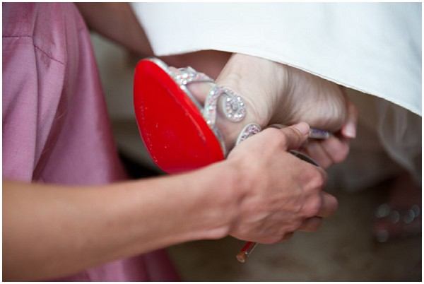 wedding cindarella shoe
