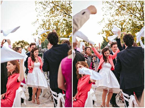 coral blazer bride