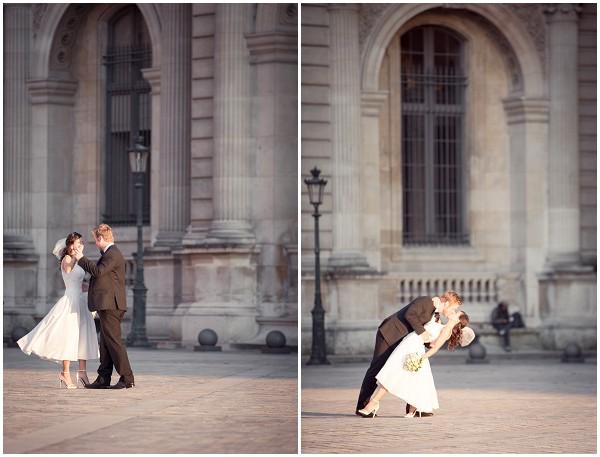 Dancing as newlyweds